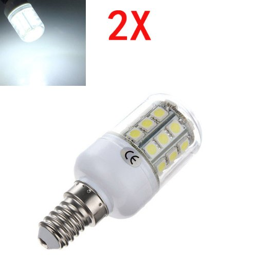 2X E14 3.2W Led White 5050 30 Smd Corn Light Lamp Bulbs Ac 220V
