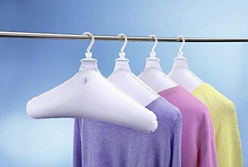UPP Products Lot de 4 cintres gonflables blanc cintre de voyage / cintre souple / cintre gonflable