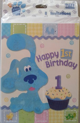 Blue's Clues 1st Birthday Invitations 8 Count - 1