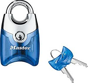 Master Lock 192D Translucent Front Access Padlock, Assorted Colors with Chrome