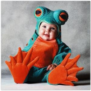 Tom Arma Frog Child Costume Size 4T-5T Toddler