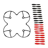 AFUNTA Propeller Blades Protection Guard Cover for Hubson X4 H107C H107D Quadcopter and Propeller Blades Props 5x sets Black / Red Propellers for Hubsan X4 H107 H107L H107C H107D Quadcopter