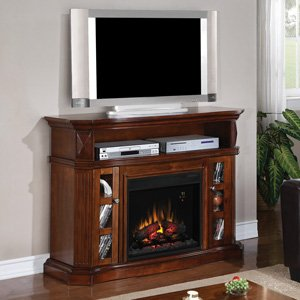 ClassicFlame Bellemeade Electric Fireplace Media Console in Burnished Walnut -23MM774-W502 picture B00EVTKC1S.jpg