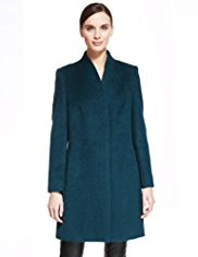 Autograph Concealed Fastening Coat with Wool