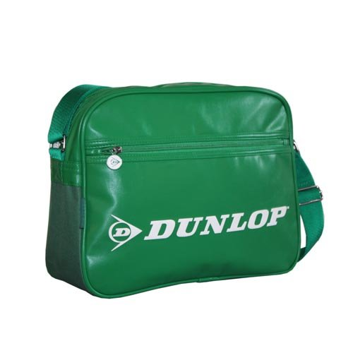 Dunlop Green Shoulder Flight Messenger Bag. Retro styling. Wear over shoulder or across body