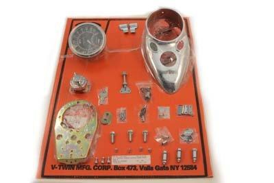 V-Twin 39-0921 - Chrome Cateye Dash Panel Kit with 2:1 Ratio Speedometer цены онлайн