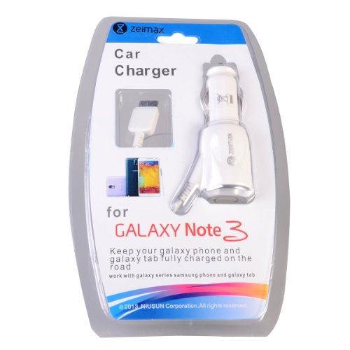 Zeimax® Retractable Fast Travel Car Charger Adapter Rapid Car Charging Cable Kits for Samsung Galaxy Note 3 III N9000 N9001