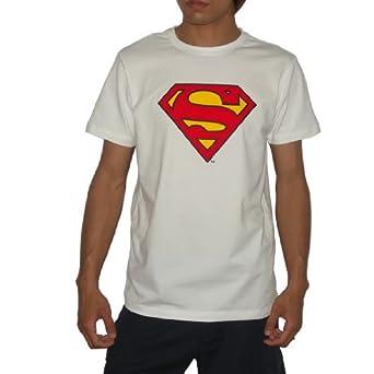 LIMITED COLLECTORS EDITION: SUPERMAN / DC Comics Mens Superhero T-Shirt / Tee XL White