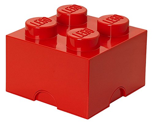 Plast Team Lego Storage Brick 4 Red