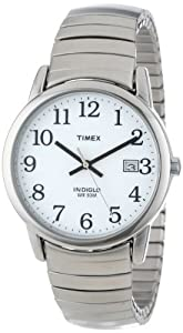 Timex Men's T2H451 Easy Reader Silver-Tone Expansion Band Watch