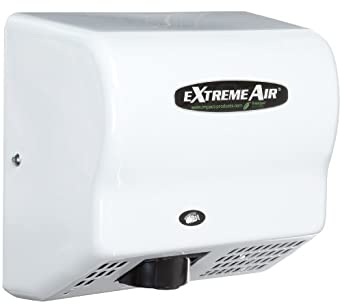 Impact 4064M eXtremeAir High Speed Energy Efficient Hand Dryer, 120V Voltage, 1500 Watt, 135 degree F, White Enamel