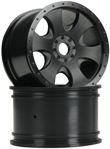 HPI Racing 3191 Warlock Wheel (2-Piece), Black, 83x56mm - 1