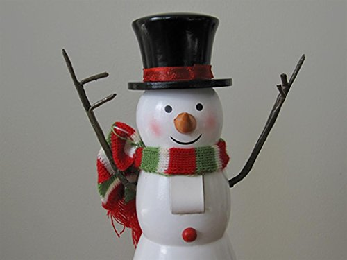 Skating Snowman Decorative Nutcracker