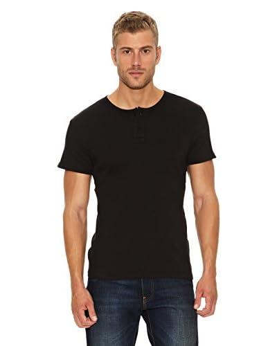 Levi's Camiseta Henley Negro