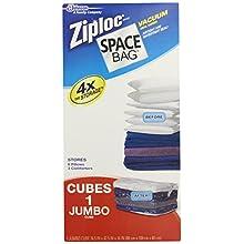 Space Bag BRS-6300 Vacuum-Seal Cube-Shaped Storage Bag, Jumbo