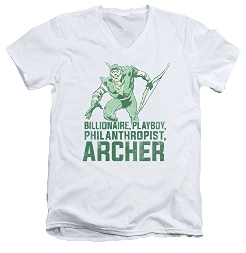 DC Green Arrow Archer Slim Fit V-Neck T-Shirt