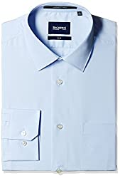 Blackberrys Men's Formal Shirt (8907196466561_NSSANNENYAN09BPQ_44_Sky Blue)