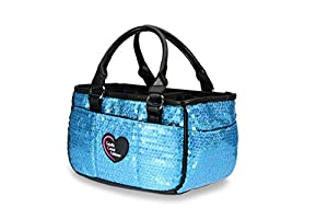 Ocean Blue Sequin Ice Skating Bag Tennis Gym and Ballet Girls Athletic