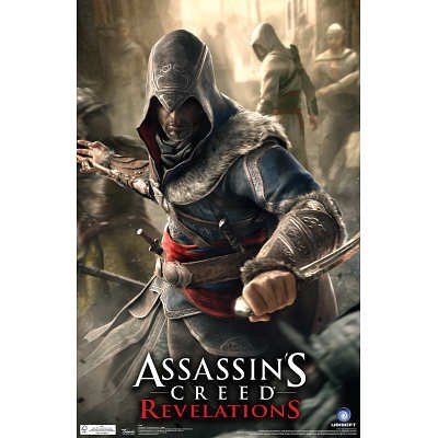 Assassin'S Creed Revelations Dagger Video Game Poster - 11X17 Custom Fit With Richandframous Black 17 Inch Poster Hangers