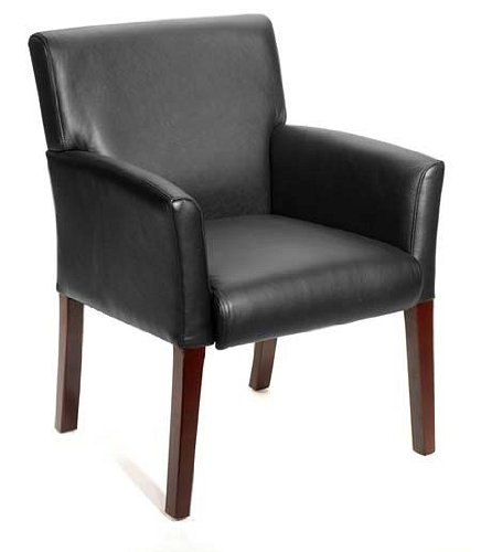 Black Executive Box Arm Chair Guest Seating