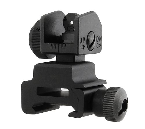 New UTG Flip-up Tactical Rear Sight Complete with Dual Aiming Aperture