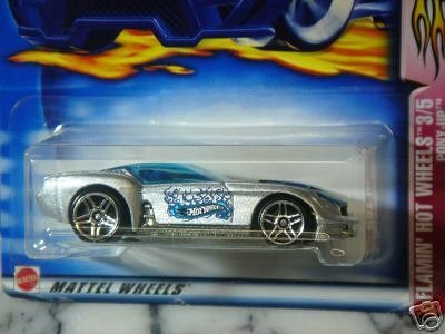 Mattel Hot Wheels 2003 1:64 Scale Silver Flamin Hot Wheels Pony Up Die Cast Car #062 - 1