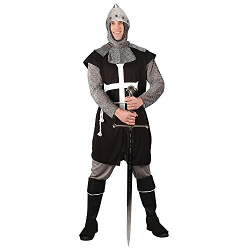 Black Knight Adults Mens Medieval Gothic Fancy Dress Costume Sizes