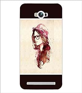 PrintDhaba Hat Girl D-1279 Back Case Cover for ASUS ZENFONE MAX ZC550KL (2016) (Multi-Coloured)