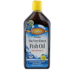 Carlson labs very finest liquid fish oil 16 9 for Omega 3 fish oil amazon