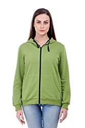 Bonhomie Women Sweatshirts [BCQSO35_P green_Extra Small]