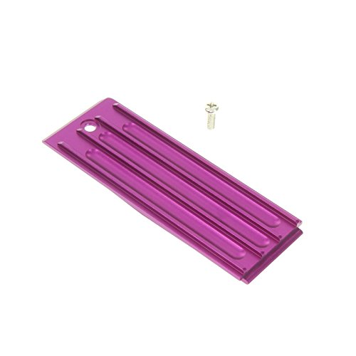GPM Racing Alloy Battery Box Bottom Shelf for 1:10 Traxxas Revo 3.3, Purple