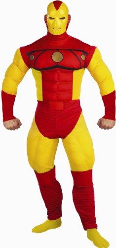Iron Man Kostüm mit Muskeln Deluxe Erwachsene - 48/50