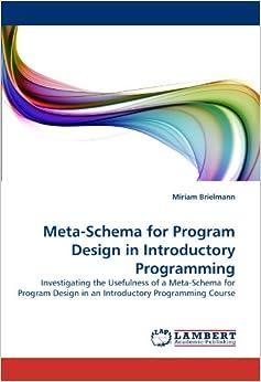 Meta-Schema for Program Design in Introductory Programming