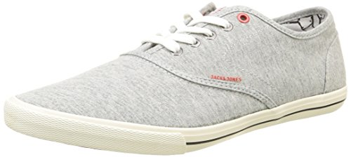 Jack & Jones Jjspider Canvas - Scarpe da Ginnastica Basse Uomo, Grigio (Grey (Light Grey Melange)), 43