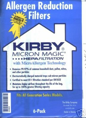 Lowest Price! Kirby, Micron Magic Hepa Filtration with MicroAllergen Technology Vacuum Bags Pack of ...