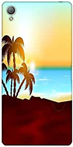 Snoogg Abstract Summer Background Designer Protective Back Case Cover For Son...