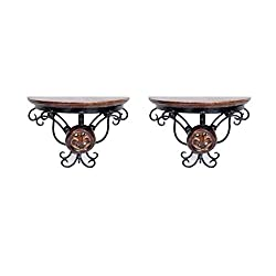 Onlineshoppee Home Decor Premium Quality Shelf Rack Wall Bracket Wall Rack Set of 2