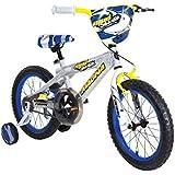 Dynacraft 8054-94ZTJ Boys Mud Shark Magna Bike, Silver/Yellow/Blue/Black, 16-Inch