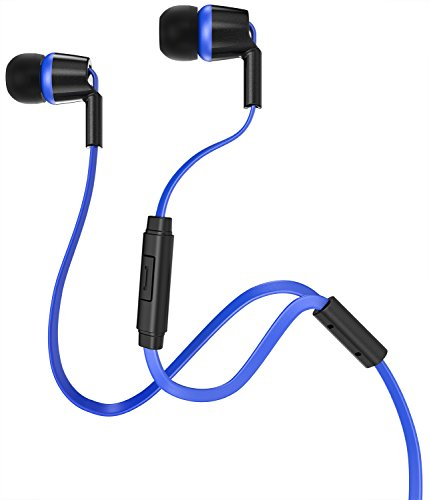 Earbuds with microphone kids - earbuds blue with case
