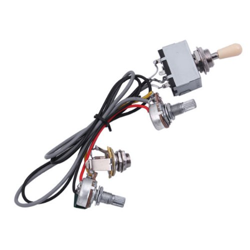 bqlzr guitar wiring harness 3way toggle switch 1v1t 500k for electric guitar 2 ebay