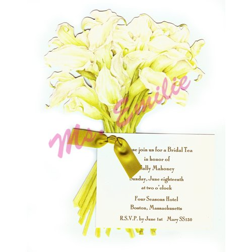 Calla Lily Die-Cut Card, Pack Of 10 front-945761