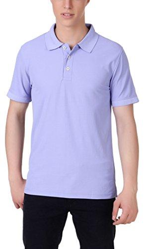 American Crew Men's Polo Collar Lavendar T-Shirt – XXL (AC140A-XXL)