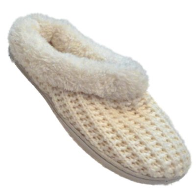 Cheap Womens Dearfoams Alabastar White Crochet Clogs Small 5-6 Fur Lined Slippers (B005KKGDYW)