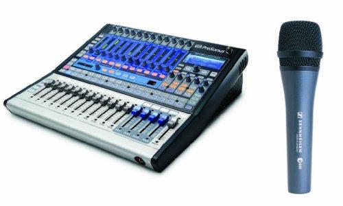 Presonus Studiolive 16.0.2 Remote Control Performance & Recording Digital Mixer With Sennheiser E835 Dynamic Vocal Microphone