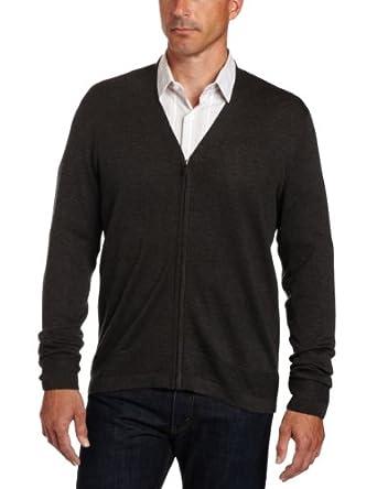 (必买)羊毛外衣Perry Ellis Men's Merino Blend Zip Cardigan两色可选$32.63