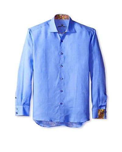 Bertigo Men's Piter Solid Linen Long Sleeve