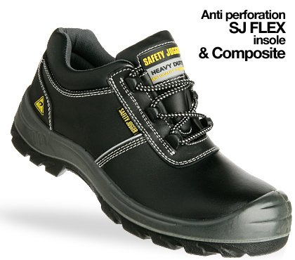 Safety Jogger Safety Shoes Aura Size 10 Black