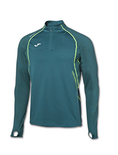 JOMA OLIMPIA FLASH SWEATSHIRT 1/2 ZIP RUNNING GREEN M