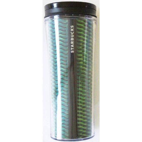 Starbucks 2011 Green & Black Lenticular Tumbler, 16 Fluid Ounces