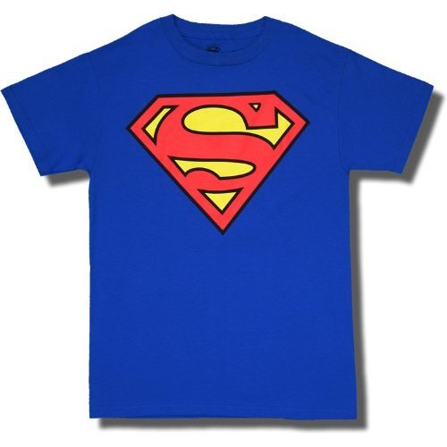 41Y58cXP3pL DC Comics Superman Classic Shield Logo Royal Blue Adult T shirt Discount